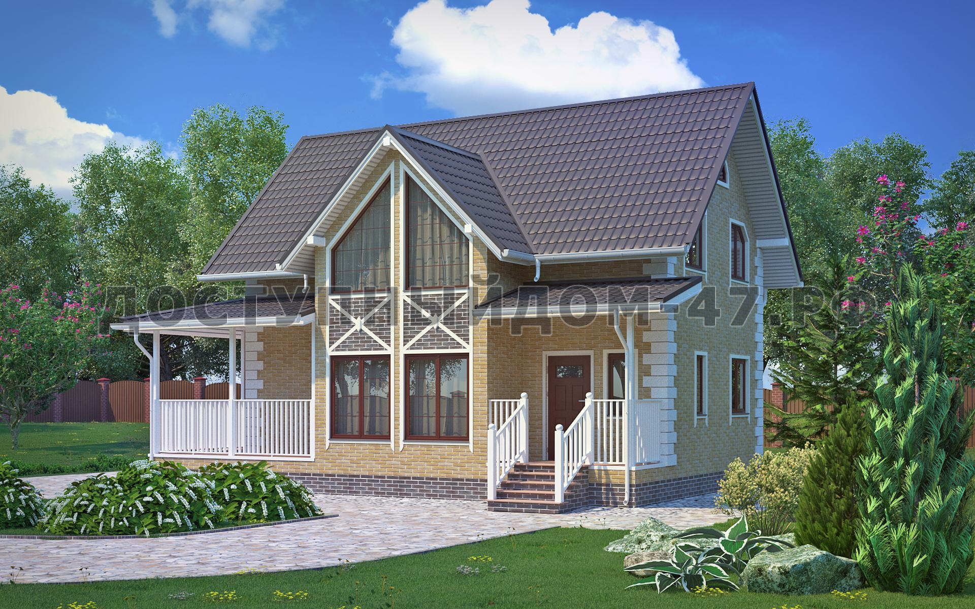 Проект ддом-1 каркасного дома